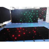 Wholesale Single Color Star Cloth Warm White Curtain Lights , Led Waterfall Curtain Lights DMX 512 from china suppliers