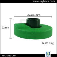 Wholesale Green Two Pieces RFID Livestock Tags Laser Printing With ICAR Certification from china suppliers