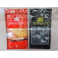 Wholesale Resealable Plastic Cigar Bags With Humidity Controlled System For Nicaragua Cigars / Dominica Cigars from china suppliers
