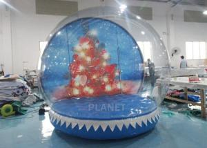 Wholesale 0.65mm PVC  Inflatable Santa Snow Globe Ball Quadruple Stitching from china suppliers
