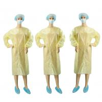 Wholesale Yellow Non Woven Garments / Disposable Operating Gowns Fluid Resistant from china suppliers