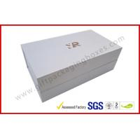 Wholesale Rectangle Silver Rigid Gift Boxes , Handmade Magnetic Gift Box Color Customized from china suppliers