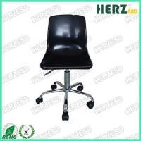 Quality Black Plastic Black Ergonomic Industrial Chairs With Grounding Conductive Metal Chain for sale