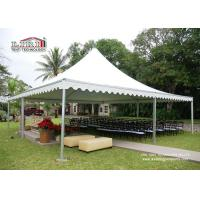 Best Pop Up Aluminum Pagoda Outside Gazebo Tent With White Color Roof / Sidewall wholesale