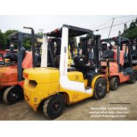 Wholesale tcm used diesel forklift manual 3 ton isuzu engine with 3000mm mast from china suppliers