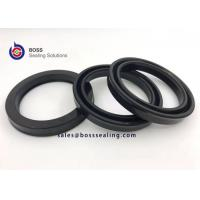 Wholesale NBR FKM Black 90 Shore A double lip piston rod seal USH for hydraulic and pneumatic cylinders from china suppliers
