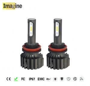 LED headlight conversion kit, Black Smart H8 LED Headlight Bulbs 50w 6000k 2.5mm Ultra - Thin LED Focus Design