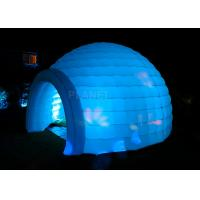 Wholesale Led Lighting Inflatable Igloo Tent , Oxford Cloth Inflatable Tents For Parties from china suppliers