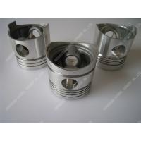 China Piston Single Cylinder Diesel Engine Parts Aluminum Piston Black / Silver Color on sale
