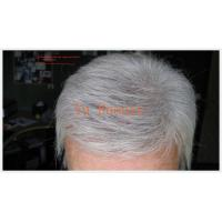 White grey man hair toupee