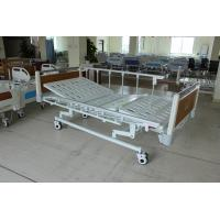 China Super Low Durable Three Functions Mechanical Medical Care Bed with HPL Head Foot Board For Nursing Home for sale