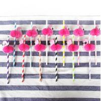 China Colorful Decorating Paper Art Straws For Christmas Thanksgiving Party on sale