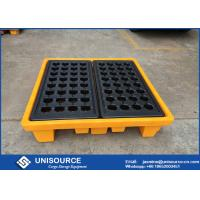 Wholesale Polyethylene Industrial Plastic Pallets Safety 4 Drum Molding Oil Drum Pallet from china suppliers