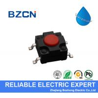 RED Surface Mount Push Button Switch , Surface Mount Tactile Switch PA66 Material for sale