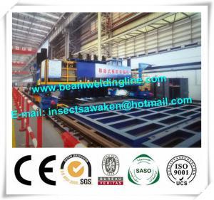 Hydraulic Longitudinal T Beam Welding Machine With Gantry Framework