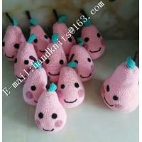 Factory Custom OEM High Quality Hand Knit Crochet Cotton Baby Pet  Animal Kid Toys and Dolls  DIY Fruit Toy