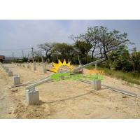 Quality Aluminum Ground Mounting System , Ground Mount Solar Racking Systems for sale
