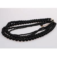 Wholesale Fashion Graduated Costume Pearl Necklace Accessories Four Strand Black Color from china suppliers