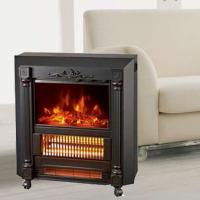 China Mobile Fireplaces electric heater fire log electric stove NDY-20 flame effect room Heater Quartz tube infrared wheels for sale
