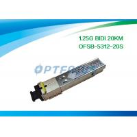 Wholesale Network Fiber SFP Optical Transceivers Telecom Communication 1.25G Bi-Di 20km SC from china suppliers