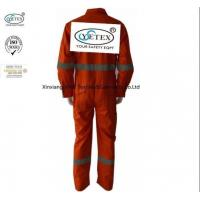 China Orange Cotton Lightweight Fr Coveralls With Reflective Trim for sale