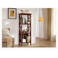 Three Shelf Tall Sturdy Narrow Wooden Book Case / Bookcase For Home