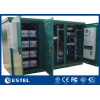 China Floor Mount Outdoor Telecom Cabinet IP55 Triple Bay Racking Enclosure With Three Doors for sale