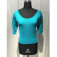 Wholesale Round Spot Printing Long Sleeve Pullover Sweater Knitted Soft Cotton Wide Round Neck from china suppliers