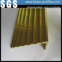 China Brass Anti-slip Strip for Stairs / Brass Non-slip Nosing Sheet on sale