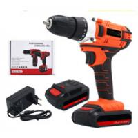 Wholesale Fast Rechargeable Drill Screwdriver , Red 1500mAh Wireless Electric Drill from china suppliers