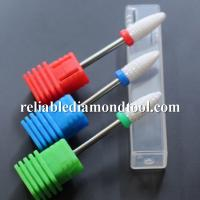 Best Dia 6.5MM Ceramic Nail Drill Bit White Ceramic Burr For Nail Shank wholesale