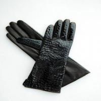 Quality fashion patent leather gloves for lady for sale