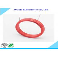 China Round Red Multilayer Air-Core Coil / Inductance Calculator Coil Diameter 0.3mm on sale