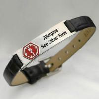 China fashion stainless steel medical id bracelet on sale