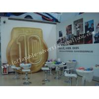 Wholesale Fireproof Custom Shaped Balloons / Inflatable Advertising Helium Coin Shape for Trade Show from china suppliers