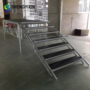 China Aluminum cheap truss display mobile Wedding Event Decoration Truss Mobile Concert Portable Platform Stage on sale