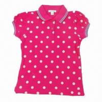 China Children's Lovery T-shirt/Polo Shirt with spot dot print on sale
