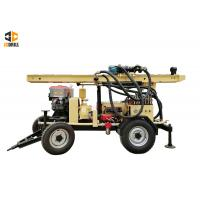 China 24kw Engine Power Dth Drilling Rig 2m Drill Pipe Water Well Drilling Rig on sale