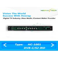 Quality IRD Digital TV Satellite Receiver BNC Interface With WEB Management Mode for sale