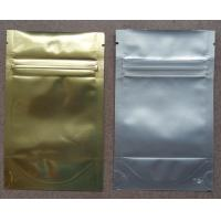 Wholesale Aluminum Foil Zip Lock Bag Plastic Seeds Packaging , Golden / Silver from china suppliers