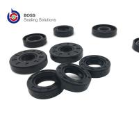 Wholesale Metal iron rubber NBR black rotary shaft seal TC oil seal double lip spring seal from china suppliers