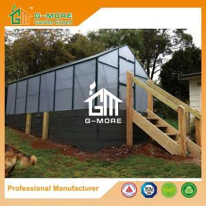 Quality Aluminum Greenhouse-Titan series-606X306X243CM-Green/Black Color-10mm thick PC for sale