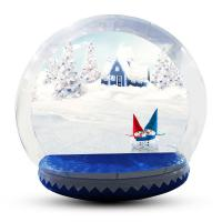 Wholesale Human Size Snowball Snow Globe / Giant Inflatable Christmas Globe For Festival from china suppliers