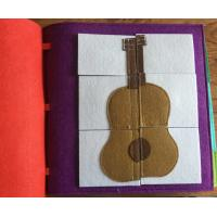 Wholesale felt fabric baby memory books for sale
