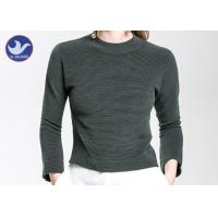 Wholesale Charm Crop Top Womens Knit Pullover Sweater Lady  Three Quarter Sleeves Short Turtle Neck from china suppliers