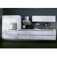 Best Matte White Lacquer Kitchen Cabinets For Home / Hotel With Slider Basket wholesale
