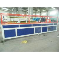 China PP / PE Deck Plastic Profile Extrusion Line , WPC Tray Profile Extrusion Machinery on sale