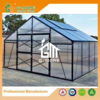 Wholesale Aluminum Greenhouse-Titan series-406X406X273CM-Green/Black Color-10mm thick PC from china suppliers