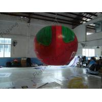 Wholesale B1 Fireproof PVC Apple Fruit Shaped Balloons With Full Digital Printing 3m Height from china suppliers