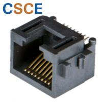 China Ethernet SMT RJ45 Connector 10 / 100 Mbps Current Rating 1.5A For Network Cables on sale